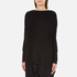 Paisie Women's Ribbed Jumper with Side Splits - Black: Image 2