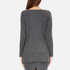 Paisie Women's V Neck Ribbed Jumper - Marl Grey: Image 3