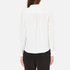 Paisie Women's Wrap Blouse with Pleated Neck - White: Image 3