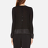 Paisie Women's Silk Panel Top with Back Button - Black: Image 3