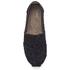 TOMS Kids' Seasonal Classics Slip-On Pumps - Black Crochet Glitter: Image 3