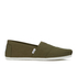 TOMS Men's Seasonal Classic Slip-On Pumps - Military Olive: Image 1