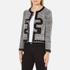 Boutique Moschino Women's Tweed Embellished Jacket - Black: Image 2
