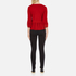 Boutique Moschino Women's Peplum Flared Sleeve Jumper - Red: Image 3