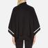Boutique Moschino Women's Contrast Detail Cape Jumper - Black: Image 3
