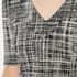 Boutique Moschino Women's Tweed Print Short Sleeve Peplum Dress - Black: Image 4