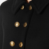 Boutique Moschino Women's Pea Coat with Gold Buttons - Black: Image 5