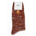 Folk Men's Flecked Single Socks - Rust Melange: Image 3
