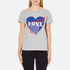Love Moschino Women's Love Heart T-Shirt - Medium Grey: Image 1