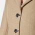 Love Moschino Women's Silver Heart Button Coat - Beige: Image 4