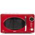 Akai A24006R 700W Digital Microwave - Red: Image 1