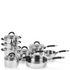 Swan Pan Set with Silicone Handles - Stainless Steel (8 Piece): Image 1