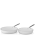 Tower Linear Fry Pan Set - White (2 Piece): Image 1