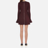 McQ Alexander McQueen Women's Volant Sleeve Dress - Port: Image 3