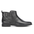 UGG Women's Demi Croc Leather Flat Ankle Boots - Black: Image 1