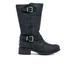UGG Women's Tisdale Buckle Biker Boots - Black: Image 1