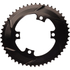 AbsoluteBLACK 110BCD 4 Bolt Spider Mount Aero Oval Chain Ring (Premium): Image 2