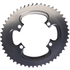 AbsoluteBLACK 110BCD 4 Bolt Spider Mount Aero Oval Chain Ring (Training): Image 3