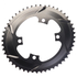 AbsoluteBLACK 110BCD 4 Bolt Spider Mount Aero Oval Chain Ring (Training): Image 4