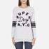 Superdry Women's Applique Pocket Crew Sweatshirt - Ice Marl: Image 1