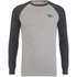 Tokyo Laundry Men's Fremont Cove Raglan Long Sleeve Top - Charcoal Marl: Image 1