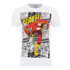 DC Comics Men's The Flash Comic Strip T-Shirt - White: Image 1