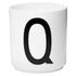 Design Letters Porcelain Cup - Q: Image 1