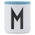 Design Letters Wooden Lid For Porcelain Cup - Turquoise: Image 1