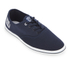 Henleys Men's Stash Canvas Pumps - Navy: Image 2