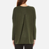 French Connection Women's Viva Vhari Long Sleeve Roundneck Jumper - Dark Olive Night: Image 3
