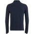 Brave Soul Men's Lincoln Long Sleeve Polo Shirt - Ocean Blue: Image 2