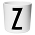 Design Letters Kids' Collection Melamin Cup - White - Z: Image 1