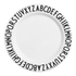 Design Letters Kids' Collection Melamin Plate - White: Image 1
