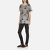 Marc Jacobs Women's Skater Patchwork Cat T-Shirt - Grey/Multi: Image 4