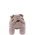 Leather British Bulldog Footstool - Grey: Image 3