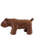 Leather British Bulldog Footstool - Brown: Image 2