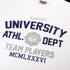 Varsity Team Players Men's University Athletic T-Shirt - White: Image 3