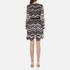 Diane von Furstenberg Women's Lizbeth Dress - Encore Wildrose/ Black: Image 3