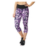adidas Women's High-Rise 3/4 Workout Training Tights - Purple: Image 1