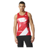 adidas Men's Adizero Running Singlet - Red: Image 1