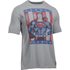 Under Armour Men's Retro Superman Short Sleeve T-Shirt - Steel/Red: Image 1