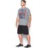 Under Armour Men's Retro Superman Short Sleeve T-Shirt - Steel/Red: Image 4
