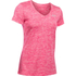 Under Armour Women's Twist Tech V Neck T-Shirt - Knock Out/Metallic Silver: Image 1