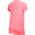 Under Armour Women's Favorite Big Logo Short Sleeve T-Shirt - Brilliance Pink: Image 2
