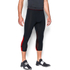 Under Armour Men's HeatGear SuperVent 3/4 Leggings - Black/Red: Image 3