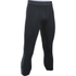 Under Armour Men's HeatGear SuperVent 3/4 Leggings - Black/Stealth Grey: Image 1