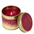 Stoneglow Log Fire Glitter Topped Candle Tin: Image 1
