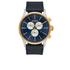 Nixon The Sentry Chrono Leather Watch - Gold/Blue Sunray: Image 1