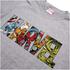 Marvel Mens Comic Strip Logo T-Shirt - Grijs: Image 3