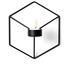 Menu POV Candle Holder Wall - Black: Image 1